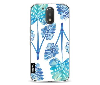 Blue Ombre Palm Leaf Trifecta Pattern - Motorola Moto G4 / G4 Plus
