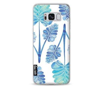 Blue Ombre Palm Leaf Trifecta Pattern - Samsung Galaxy S8