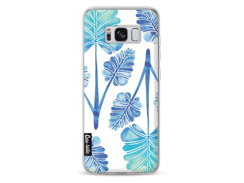 Casetastic Softcover Samsung Galaxy S8 - Blue Ombre Palm Leaf Trifecta Pattern