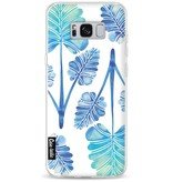Casetastic Softcover Samsung Galaxy S8 Plus - Blue Ombre Palm Leaf Trifecta Pattern