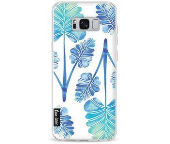 Blue Ombre Palm Leaf Trifecta Pattern - Samsung Galaxy S8 Plus