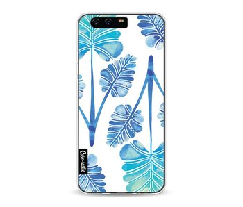 Blue Ombre Palm Leaf Trifecta Pattern - Huawei P10