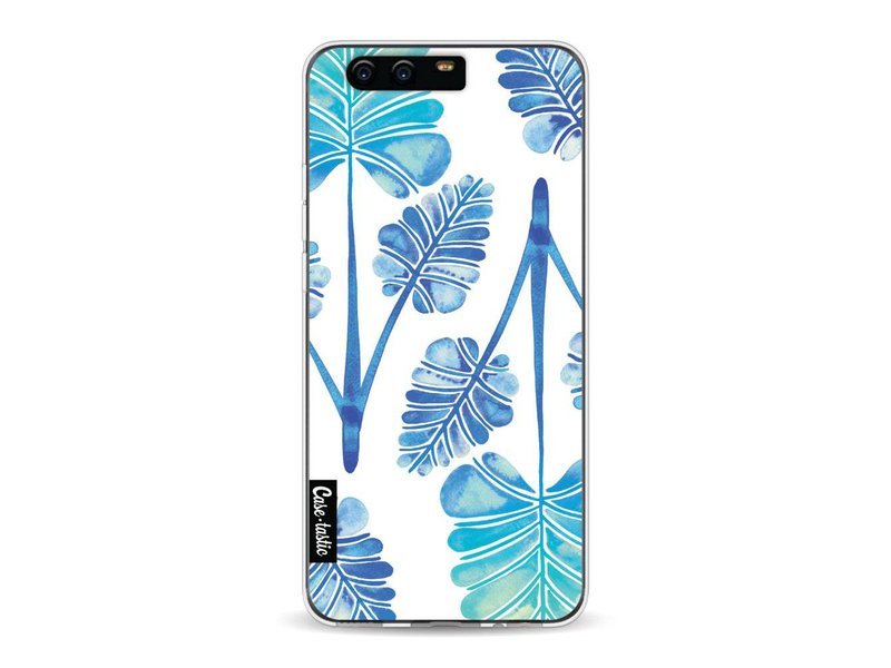 Casetastic Softcover Huawei P10 - Blue Ombre Palm Leaf Trifecta Pattern