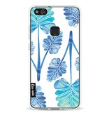 Casetastic Softcover Huawei P10 Lite - Blue Ombre Palm Leaf Trifecta Pattern