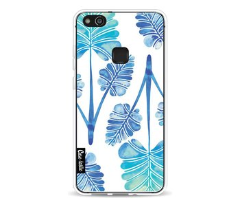 Blue Ombre Palm Leaf Trifecta Pattern - Huawei P10 Lite