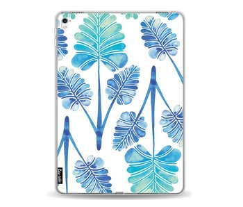 Blue Ombre Palm Leaf Trifecta Pattern - Apple iPad Pro 9.7
