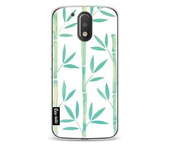 Turquoise Bamboo Pattern - Motorola Moto G4 / G4 Plus