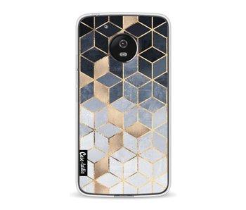 Soft Blue Gradient Cubes - Motorola Moto G5