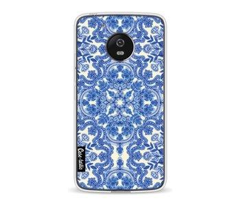 Blue White Folk Art - Motorola Moto G5