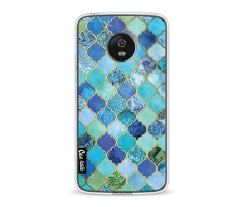 Aqua Moroccan Tiles - Motorola Moto G5