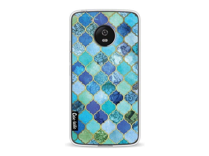 Casetastic Softcover Motorola Moto G5 - Aqua Moroccan Tiles