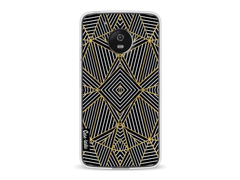 Casetastic Softcover Motorola Moto G5 - Abstraction Half Gold