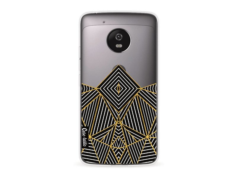 Casetastic Softcover Motorola Moto G5 - Abstraction Half Transparent