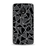 Casetastic Softcover Motorola Moto G5 - Abstraction Lines Black