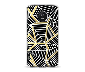 Abstraction Lines Black Gold - Motorola Moto G5