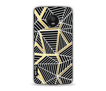 Abstraction Lines Black Gold - Motorola Moto G5