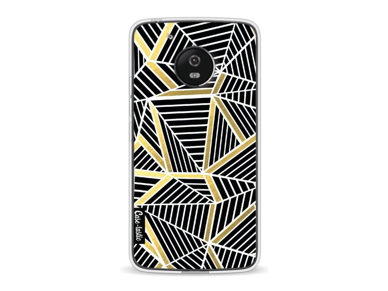 Casetastic Softcover Motorola Moto G5 - Abstraction Lines Black Gold