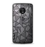 Casetastic Softcover Motorola Moto G5 - Abstraction Lines Black Transparent