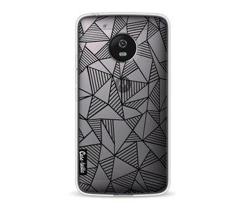 Abstraction Lines Black Transparent - Motorola Moto G5