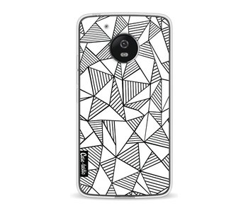 Abstraction Lines White - Motorola Moto G5
