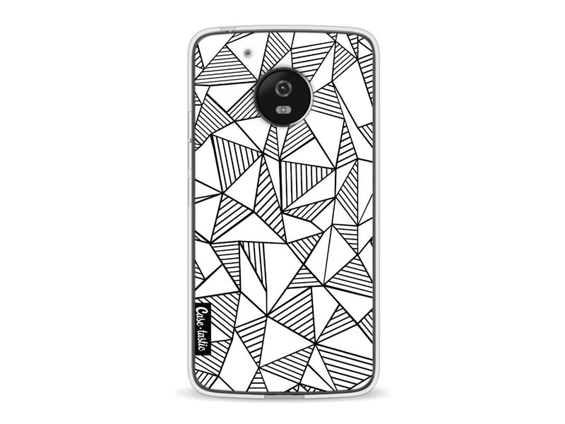 Casetastic Softcover Motorola Moto G5 - Abstraction Lines White