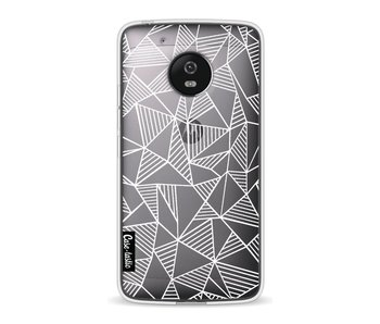 Abstraction Lines White Transparent - Motorola Moto G5