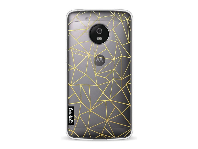 Casetastic Softcover Motorola Moto G5 - Abstraction Outline Gold Transparent