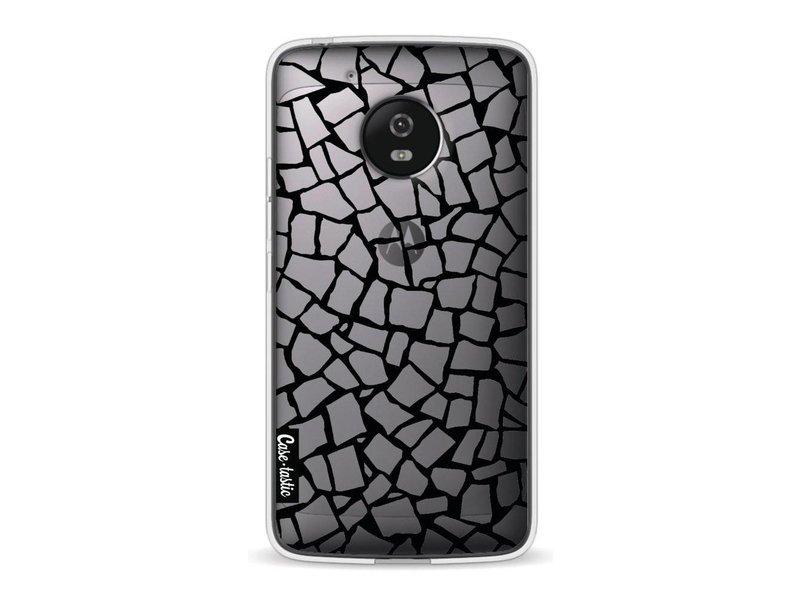 Casetastic Softcover Motorola Moto G5 - British Mosaic Black Transparent