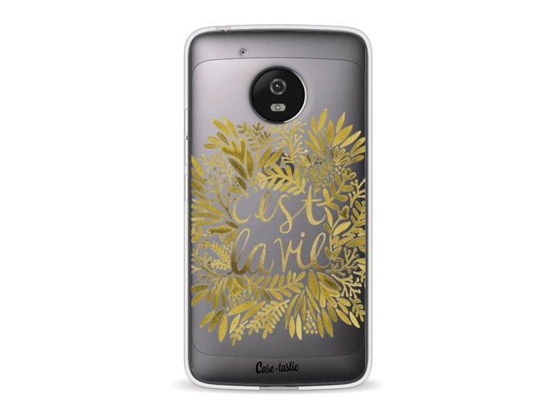 Casetastic Softcover Motorola Moto G5 - Cest La Vie Gold