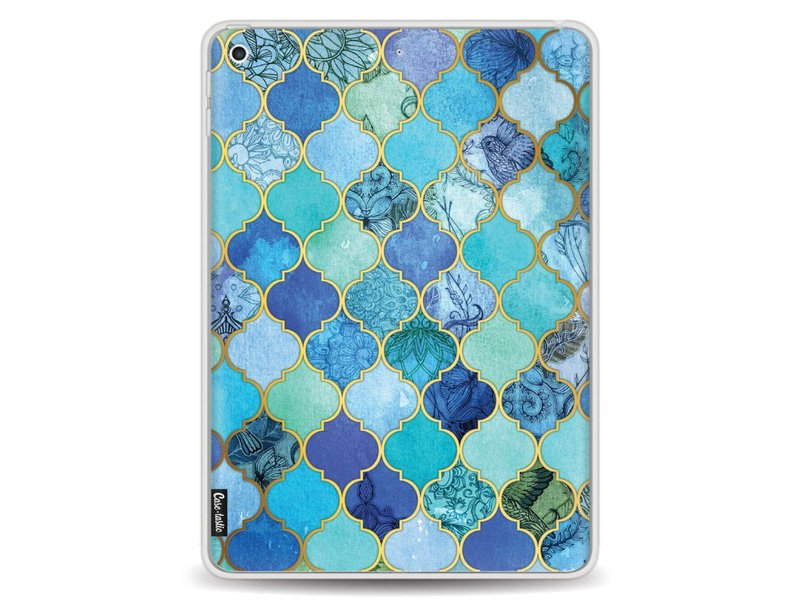 Casetastic Softcover Apple iPad 9.7 (2017) - Aqua Moroccan Tiles