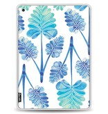 Casetastic Softcover Apple iPad 9.7 (2017) - Blue Ombre Palm Leaf Trifecta Pattern