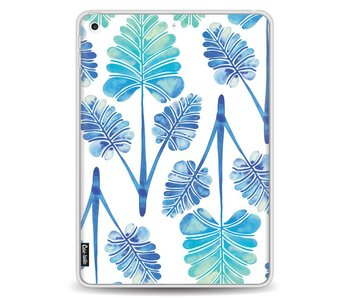 Blue Ombre Palm Leaf Trifecta Pattern - Apple iPad 9.7 (2017)