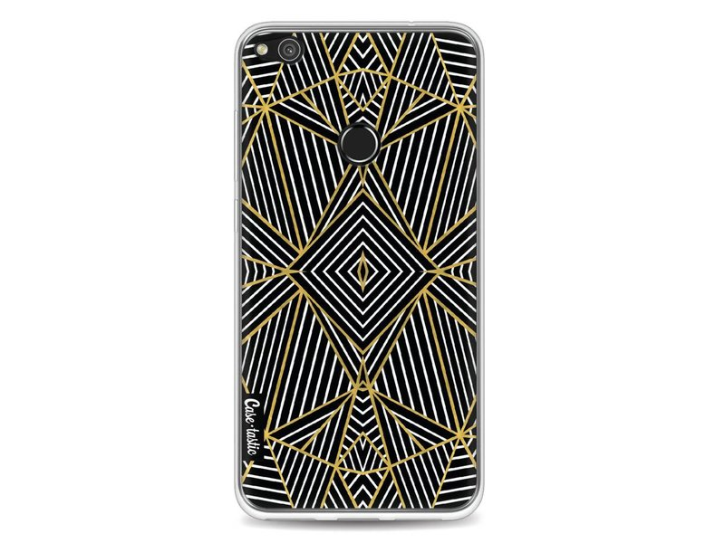 Casetastic Softcover Huawei P8 Lite (2017) - Abstraction Half Gold