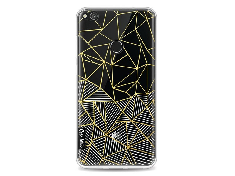 Casetastic Softcover Huawei P8 Lite (2017) - Abstraction Half Half Transparent