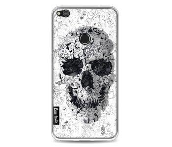Doodle Skull BW - Huawei P8 Lite (2017)