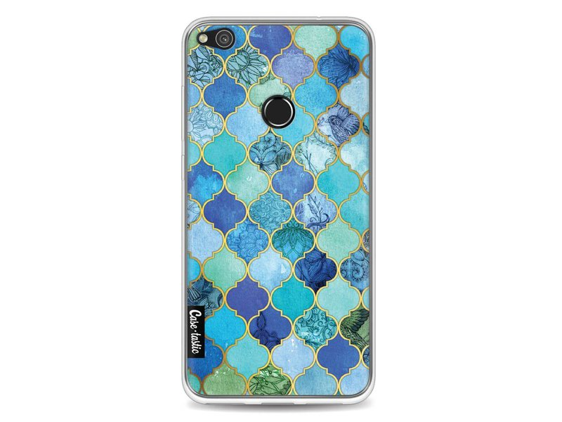 Casetastic Softcover Huawei P8 Lite (2017) - Aqua Moroccan Tiles