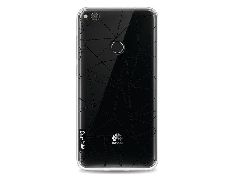Casetastic Softcover Huawei P8 Lite (2017) - Abstract Dotted Lines Black Transparent