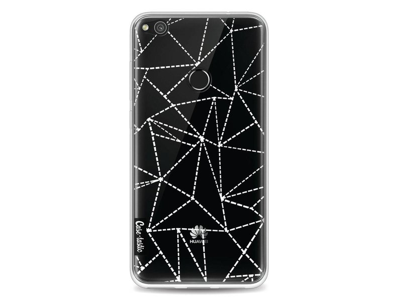 Casetastic Softcover Huawei P8 Lite (2017) - Abstract Dotted Lines Transparent