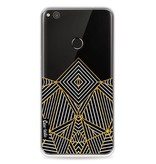 Casetastic Softcover Huawei P8 Lite (2017) - Abstraction Half Transparent