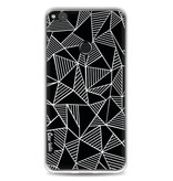 Casetastic Softcover Huawei P8 Lite (2017) - Abstraction Lines Black