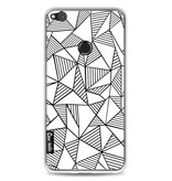 Casetastic Softcover Huawei P8 Lite (2017) - Abstraction Lines White