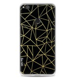 Casetastic Softcover Huawei P8 Lite (2017) - Abstraction Outline Gold