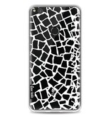 Casetastic Softcover Huawei P8 Lite (2017) - British Mosaic White Transparent