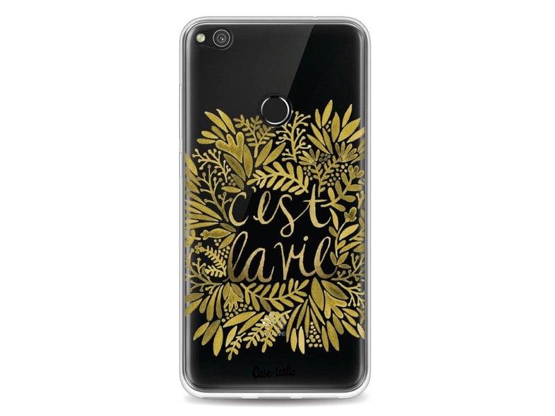 Casetastic Softcover Huawei P8 Lite (2017) - Cest La Vie Gold