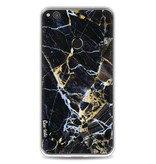 Casetastic Softcover Huawei P8 Lite (2017) - Black Gold Marble
