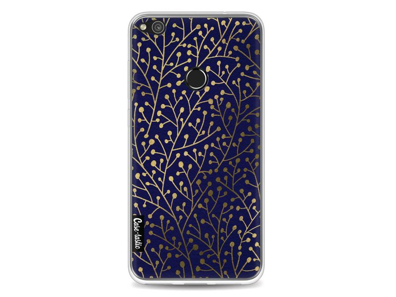 Casetastic Softcover Huawei P8 Lite (2017) - Berry Branches Navy Gold