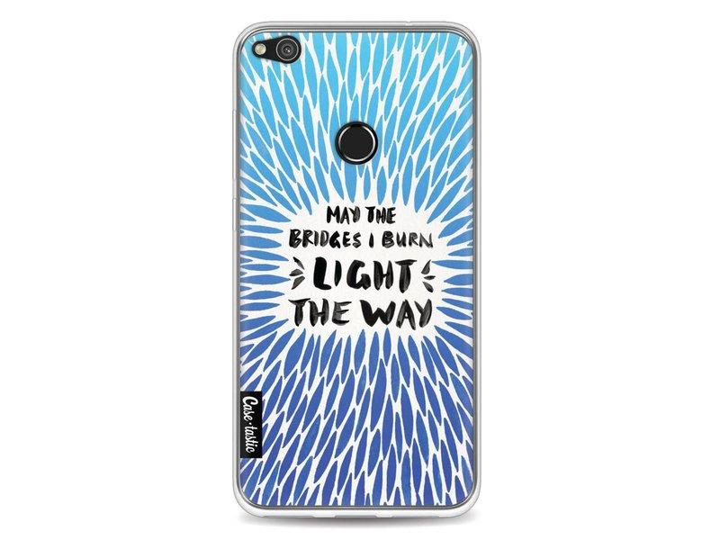 Casetastic Softcover Huawei P8 Lite (2017) - Blue Bridges Burn Burst Artprint