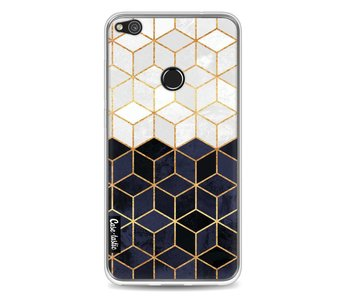 White and Navy Cubes - Huawei P8 Lite (2017)