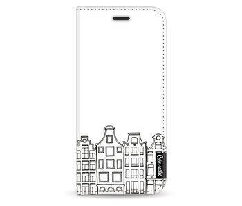 Amsterdam Canal Houses - Wallet Case White Samsung Galaxy S8