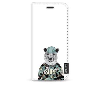 Surf Bear - Wallet Case White Samsung Galaxy S8